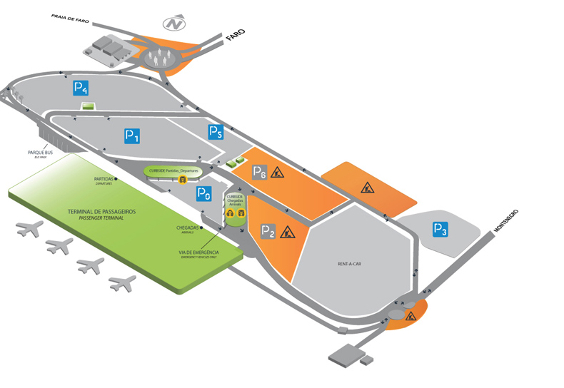Faro Airport Map Car Hire